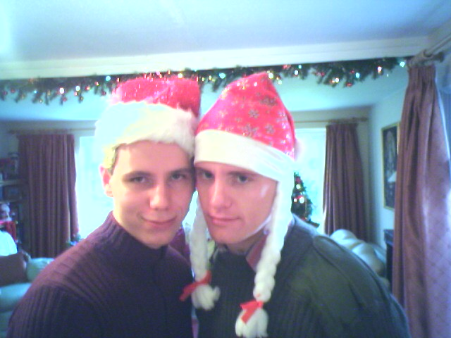 Here we have Andy and myself all kitted out with the festive head gear.
